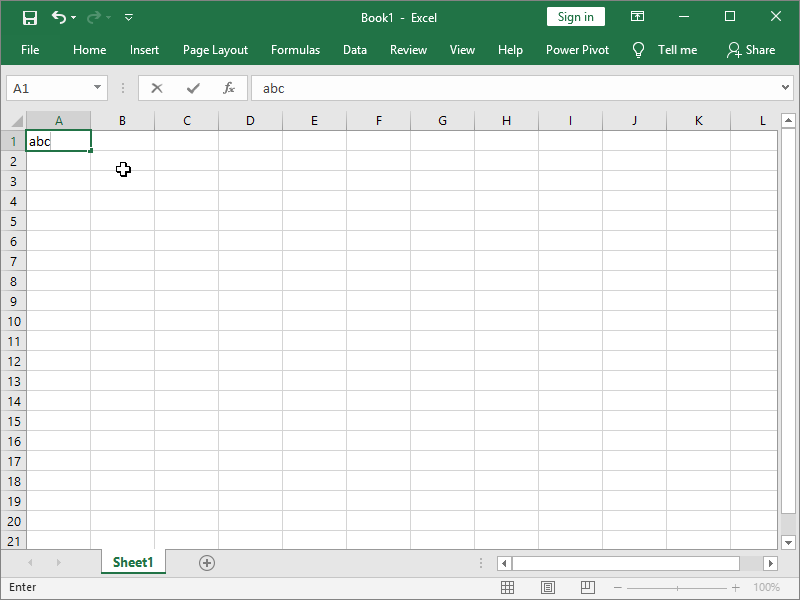 excel text in cell