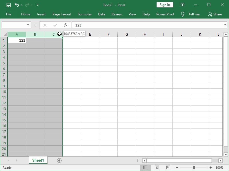 excel select one column select multiple columns