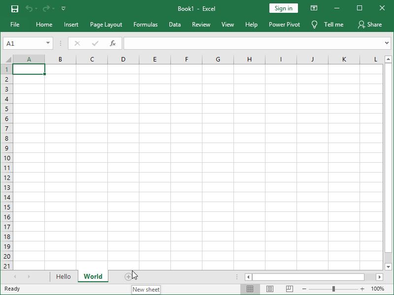 excel add new worksheet