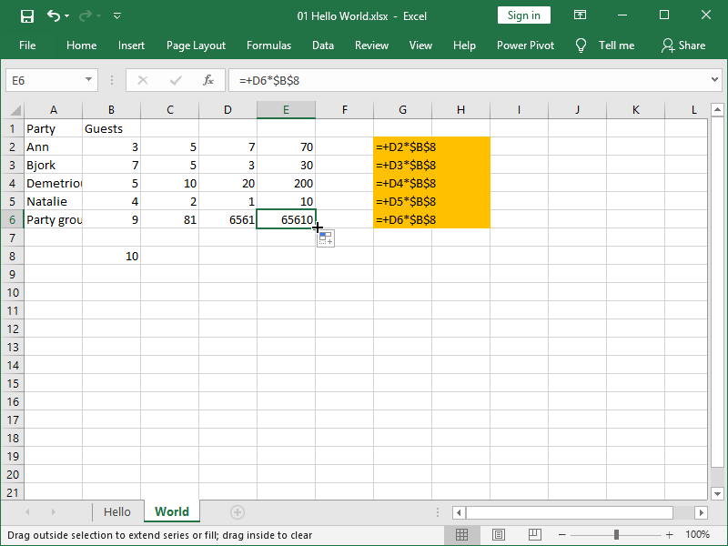 excel copy absolute cell reference
