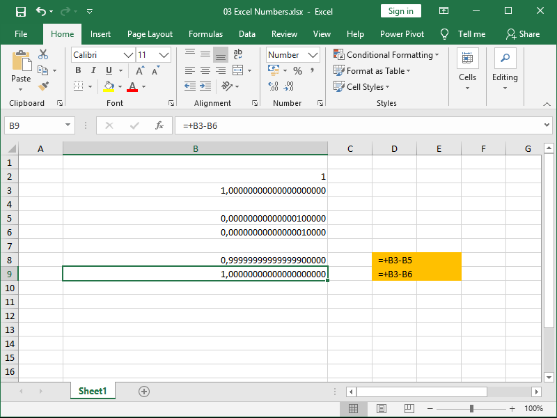 excel 15th and 16th decimal