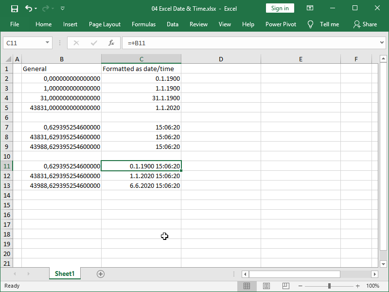 excel date hour minute second