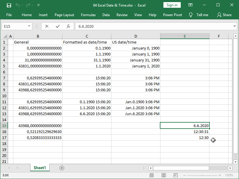 excel automatic date format