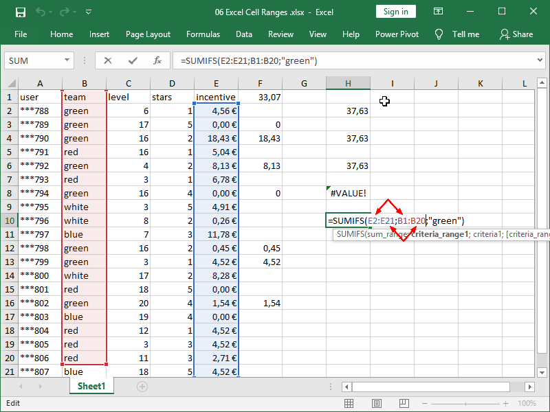 excel sumifs function syntax range 3
