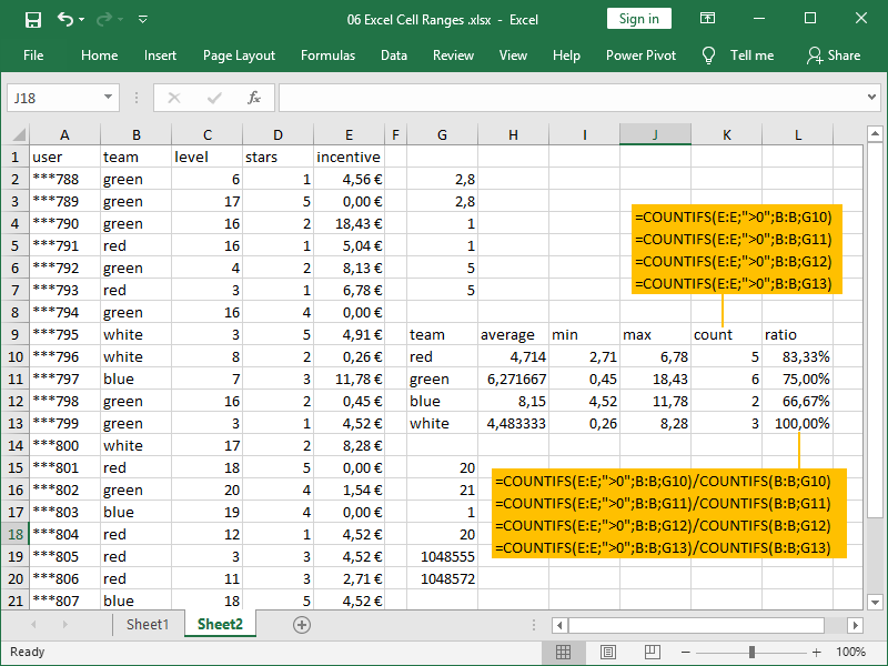 excel countifs function multiple criteria