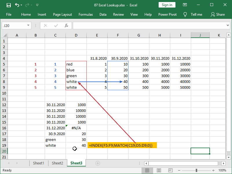 excel index match vertical lookup double match