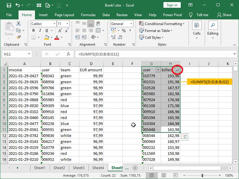 top 10s in Excel_filtering non unique sumifs sort