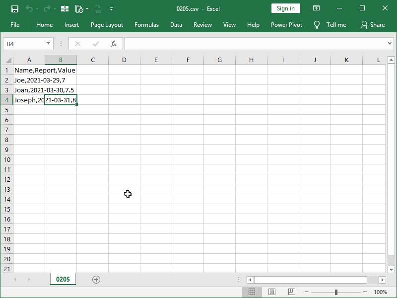 unreadable csv opened in excel