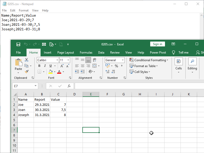 edit csv in notepad save&open