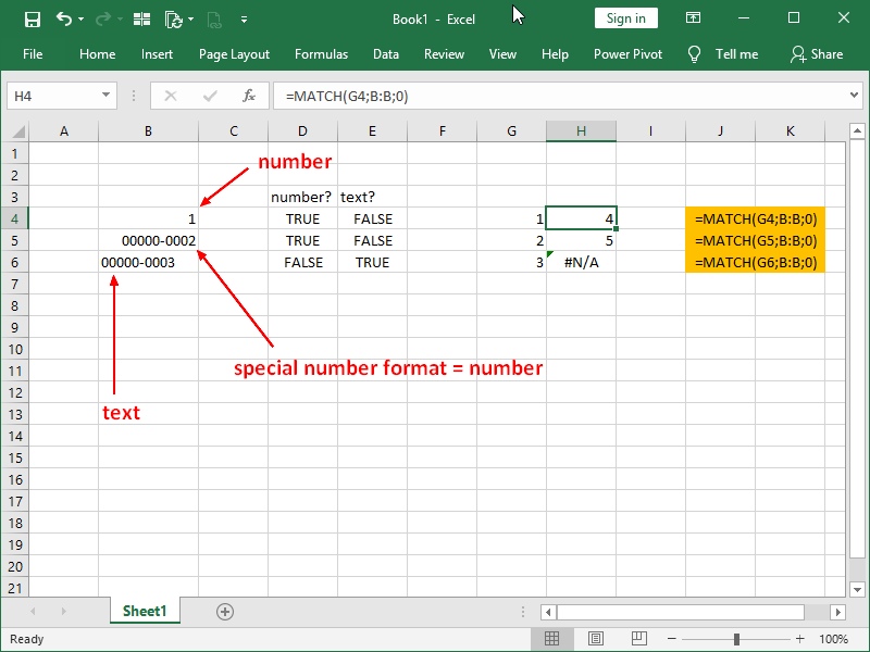 number formatting in excel